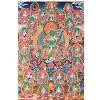 21 Taras - Thangka Reproduktion