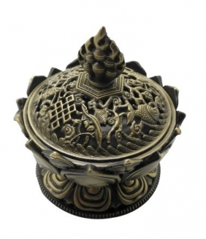 Lotus 8 AS incense burner (small)-blue