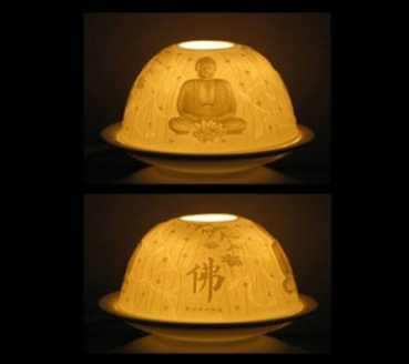 "Atmospheric lighting porcelain ""Buddha"""