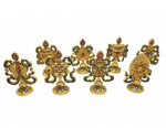 8 Auspicious Symbol Set - Gold Plated